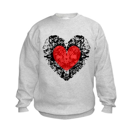 Pretty Grunge Heart Kids Sweatshirt
