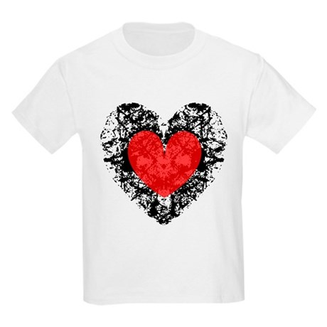 Pretty Grunge Heart Kids Light T-Shirt