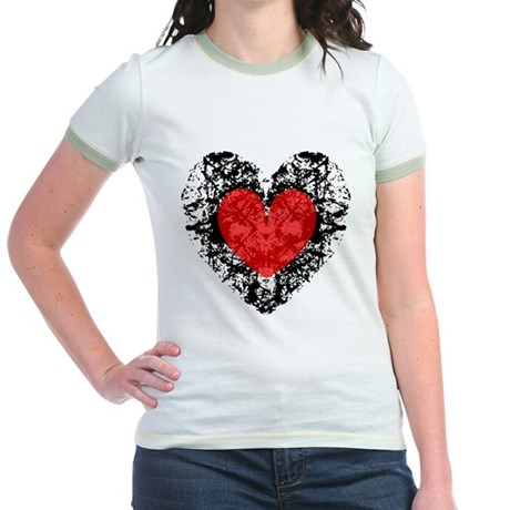 Pretty Grunge Heart Jr. Ringer T-Shirt