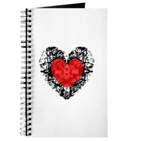 Pretty Grunge Heart Journal