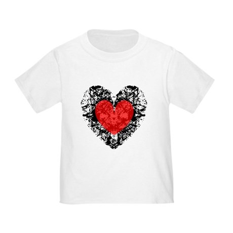 Pretty Grunge Heart Toddler T-Shirt