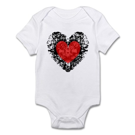 Pretty Grunge Heart Infant Bodysuit