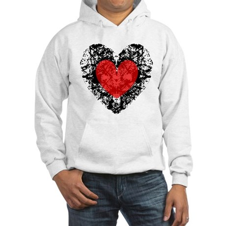 Pretty Grunge Heart Hooded Sweatshirt