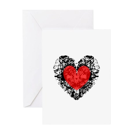 Pretty Grunge Heart Greeting Card