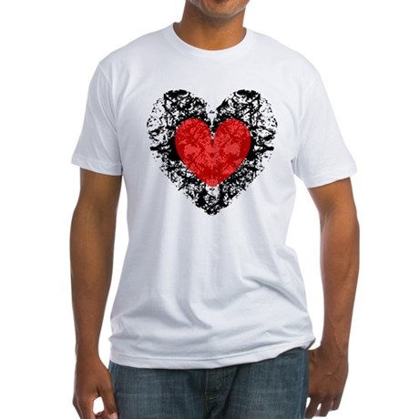 Pretty Grunge Heart Fitted T-Shirt