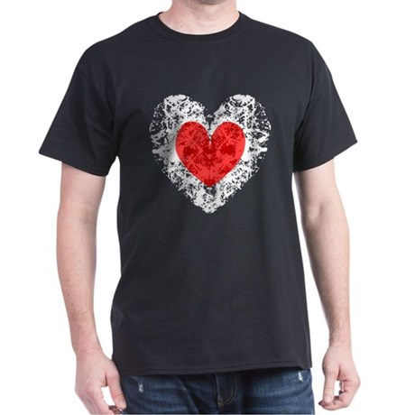 Pretty Grunge Heart Dark T-Shirt