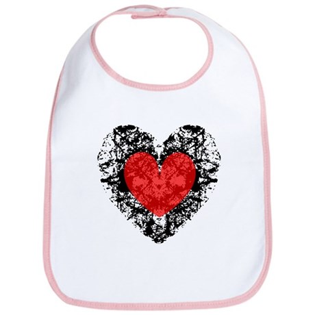 Pretty Grunge Heart Bib