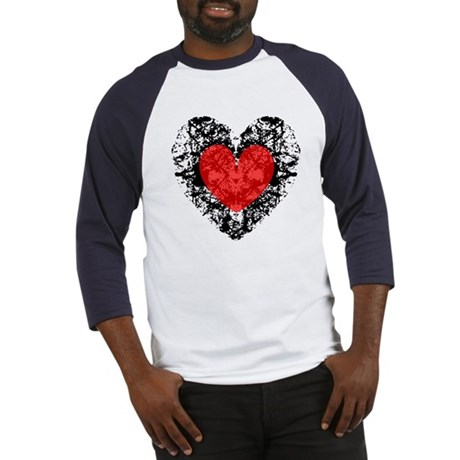 Pretty Grunge Heart Baseball Jersey