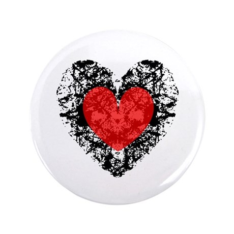 "Pretty Grunge Heart 3.5"" Button"