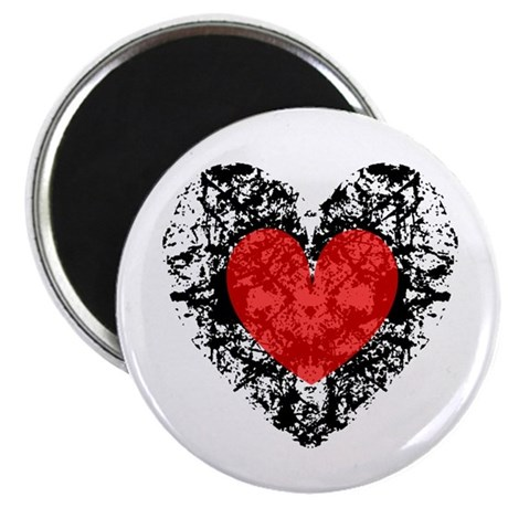 "Pretty Grunge Heart 2.25"" Magnet (100 pack)"