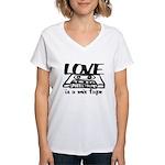 Love is a Mix Tape Women's V-Neck T-Shirt