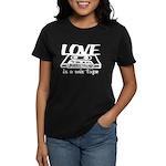 Love is a Mix Tape Women's Dark T-Shirt
