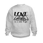 Love is a Mix Tape Kids Sweatshirt