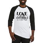 Love is a Mix Tape Baseball Jersey