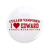 "I Heart Edward - Cullen Vampires 3.5"" Button"