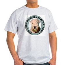 Wheaten Terrier Addict Ash Grey T-Shirt