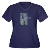 Tall Girls Women's Plus Size V-Neck Dark T-Shirt