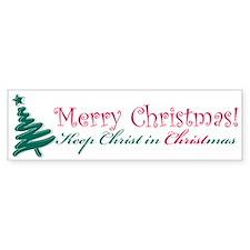 Merry Christmas tree Bumper Sticker