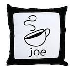 Java Joe Coffee Cartoon Throw Pillow