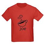 Java Joe Coffee Cartoon Kids Dark T-Shirt