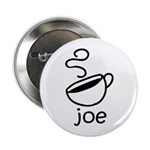 "Java Joe Coffee Cartoon 2.25"" Button (100 pac"
