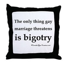 Stop Bigotry Throw Pillow