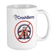 CrashBerry - Don't CrackBerry While Driving Mug
