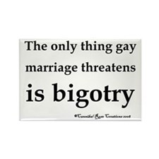 Stop Bigotry Rectangle Magnet