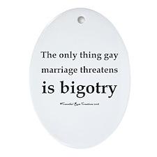 Stop Bigotry Oval Ornament