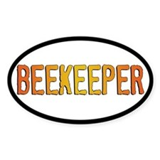 Beekeeper Stamp Oval Sticker (10 pk)