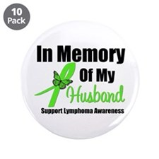 "In Memory of My Husband 3.5"" Button (10 pack)"