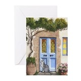Greek Door Greeting Cards (Pk of 20)