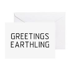 Greetings Earthling Greeting Card