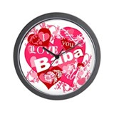 I Love You Baba Wall Clock