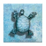 The Book of Mermaids Turtle Tile Coaster