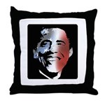Stars and Stripes Obama Throw Pillow