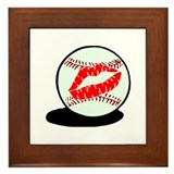 Baseball (Kiss) Framed Tile