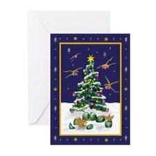 Baby Yellow Dragons Christmas Cards (Pk of 20)