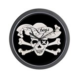 XX Boys Skull wall Clock