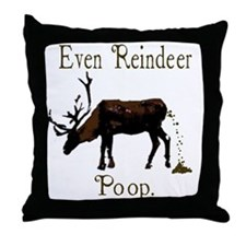 Funny Christmas Reindeer Throw Pillow