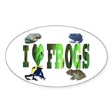 heart frogs Oval Sticker (50 pk)