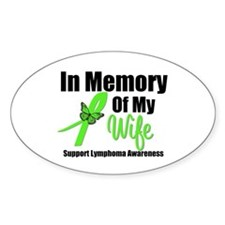 In Memory of My Wife Oval Sticker (10 pk)