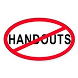 Anti-Handouts Oval Decal