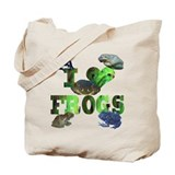 heart frogs Tote Bag