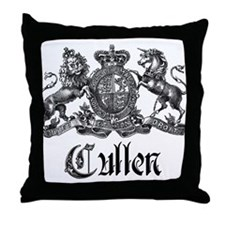 Cullen Family Name Crest Throw Pillow