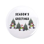 Christmas Greetings 3.5&quot; Button (100 pack)