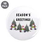 Christmas Greetings 3.5&quot; Button (10 pack)