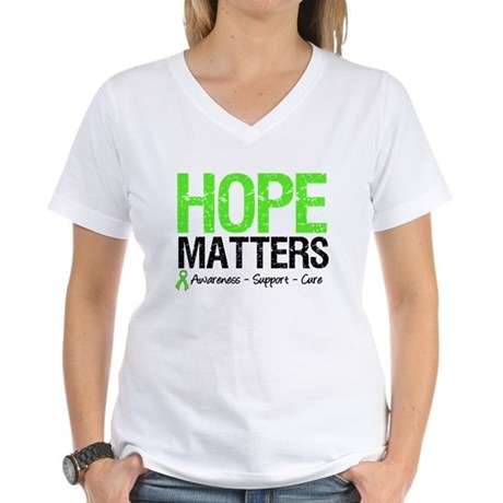 Hope Matters Grunge Women's V-Neck T-Shirt