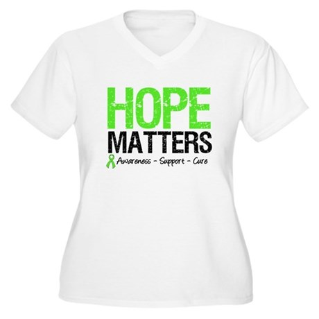 Hope Matters Grunge Women's Plus Size V-Neck T-Shi