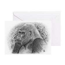 Posing Gorillas Greeting Cards (Pk of 20)